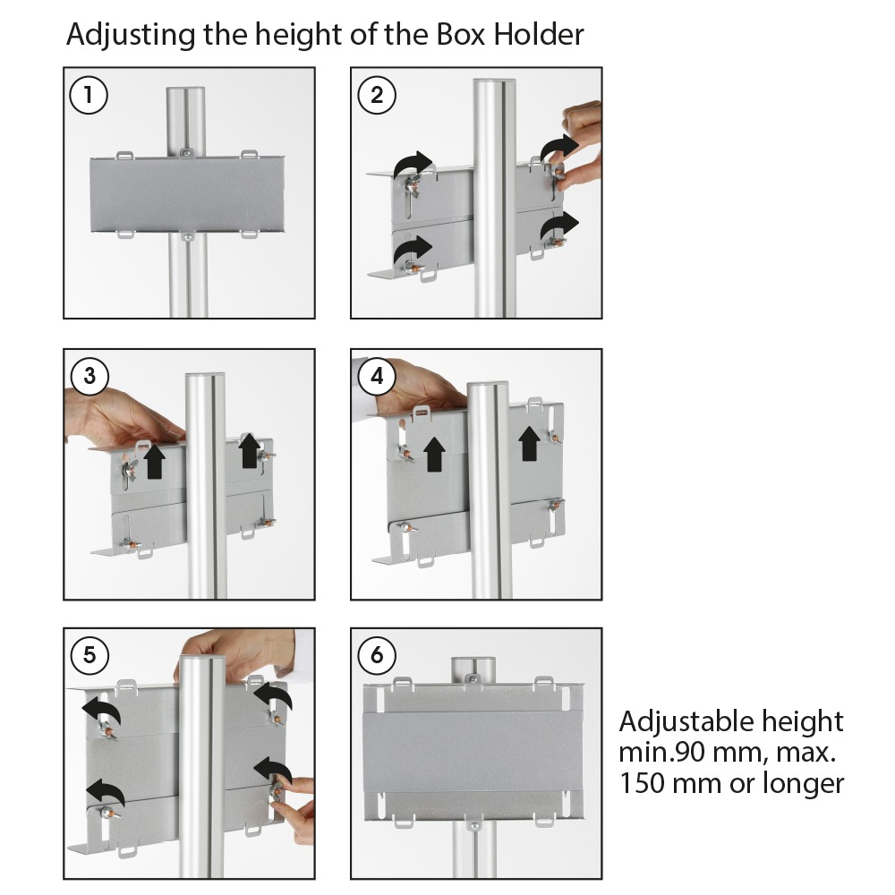Medical Face Mask Wipe Facial Tissue Disposable Glove M/&T Displays Floor Stand Universal Holder Bracket for Healthcare Product Box