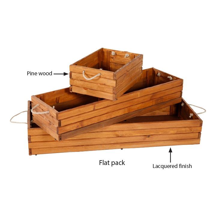 Foldable Wood Box Mt Displays