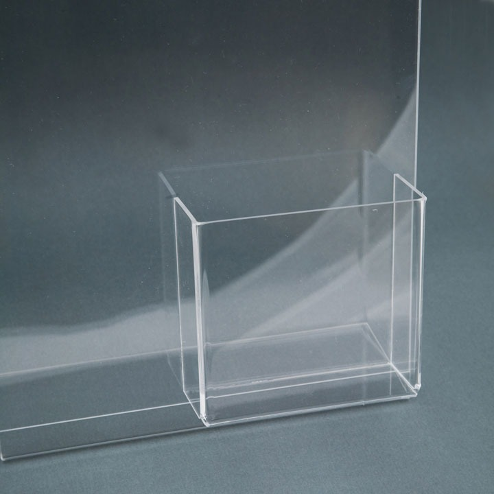 Clear Brochure Holder L Type With Front Pocket Mt Displays