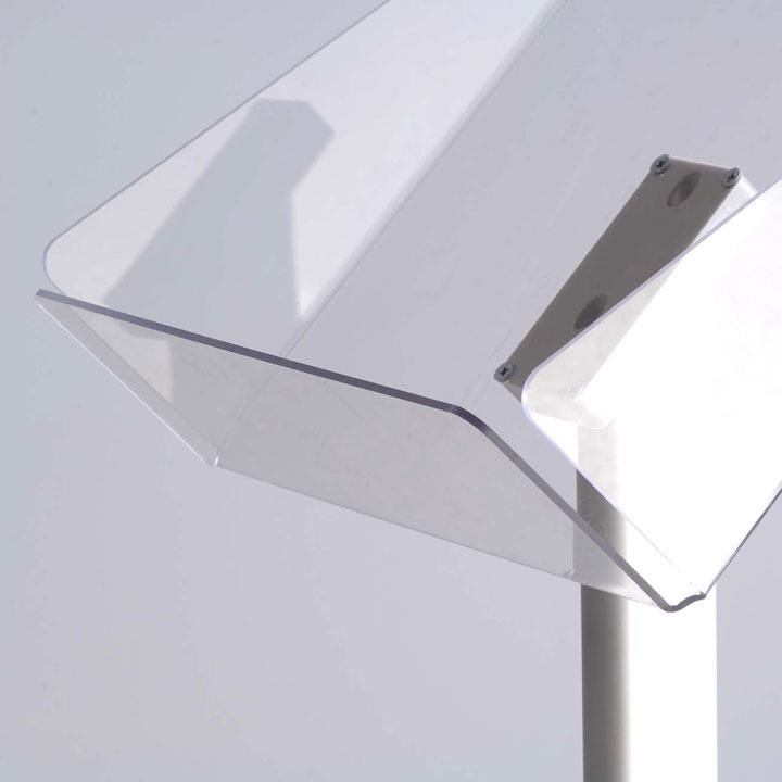 A4 Portrait Freestanding Pillar Brochure Stand