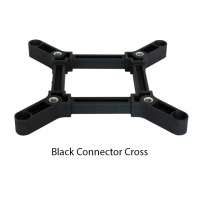Black Connecting Cross