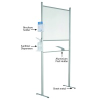 Clear Wall Separator with Bracket