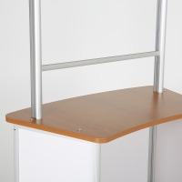 Midsize Convex Counter With Clear Barrier
