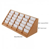 Desktop Wooden Card Holder