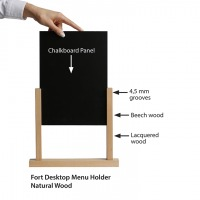 Fort Desktop Menu Holder, Straight Cut