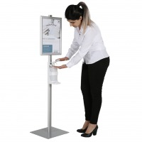 Hand Stanitizer Floor Stand With Opti Frame Vol2