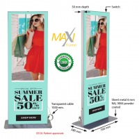 Maxi Frame Totem with LED Double Sided