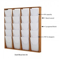 Wood Magazine Rack for Wall