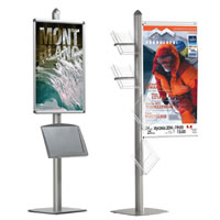 Free Standing Leaflet Display 4 Channel