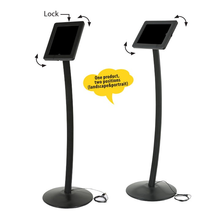 Universal Curved Tablet Kiosk